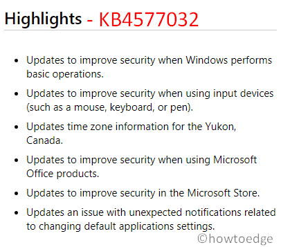 KB4570333 and KB4577032