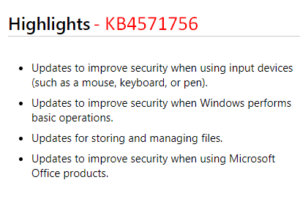 KB4571756 - Sept cumulative update for Windows 10 2004