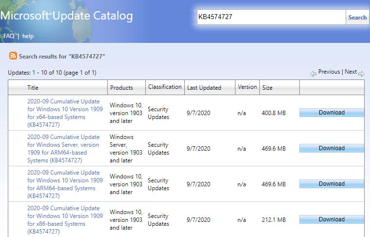 KB4574727
