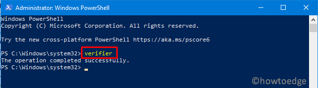 Open Verifier using PowerShell 0x0000013A