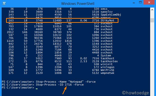 Stop Not Responding Process in Windows 10 - Powershell