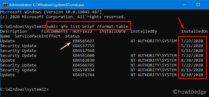 Uninstall Latest Cumulative Update - via command Prompt