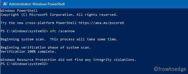 sfc - powershell