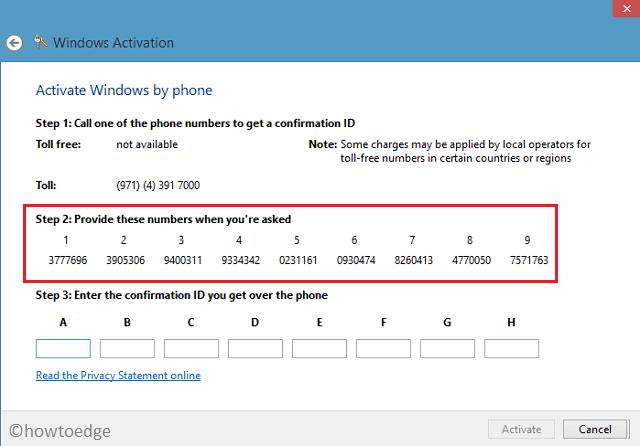 Activation Error 0xC004F050 - Activate Over Phone