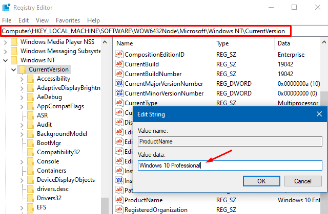 Activation Error 0xc03f6506 - EditionID and ProductName