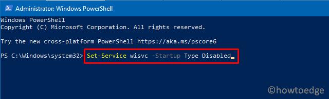 Disable Windows Insider Service - PowerShell