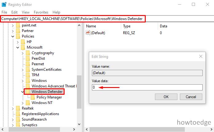 Error Code 0x800704ec When Running Windows Defender