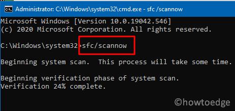 Update Error Code 0x800f0984 - SFC