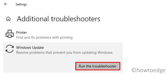 Update Error Code 0x800f0984 - Troubleshoot