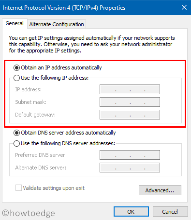 WiFi connected but No Internet - Obtain an IP automatically