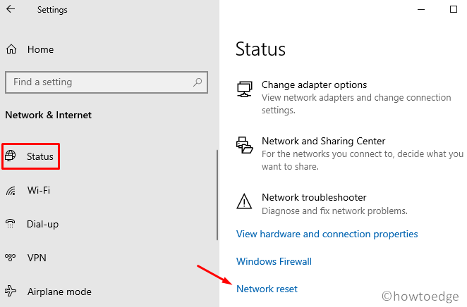 WiFi connected but No Internet - Reset Network