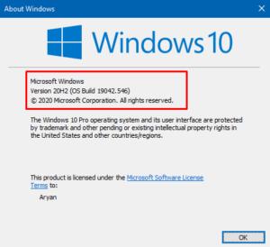 Winver - Get OS Build Info