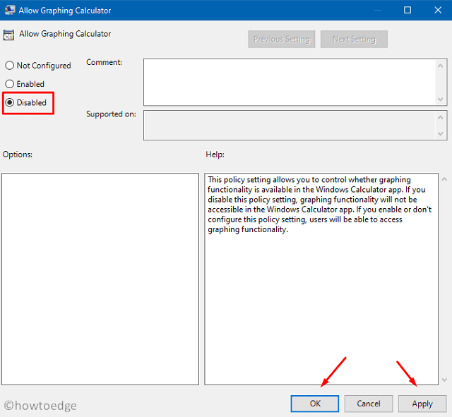 disable graphing mode - group policy