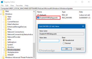 Disable Safeguard hold to install Windows 10 Feature - Via registry