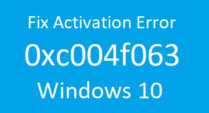 Error 0xc004f063