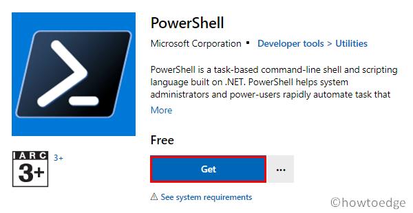 Install PowerShell 7.1 - Store