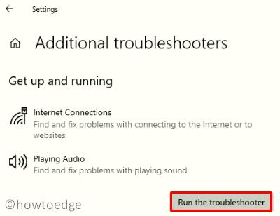 Playback Audio Troubleshooter