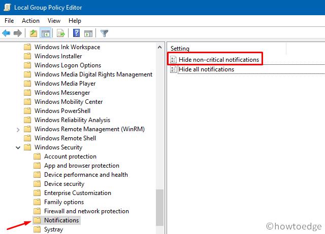 Windows Security App Notifications