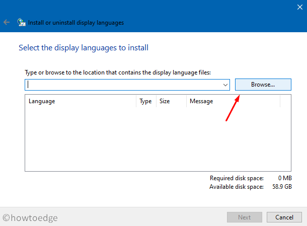 0x80240439 - Manually browse display languages