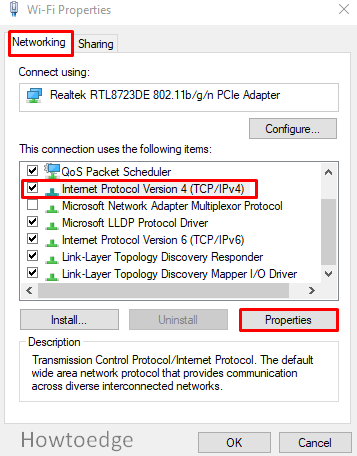 Change the DNS settings