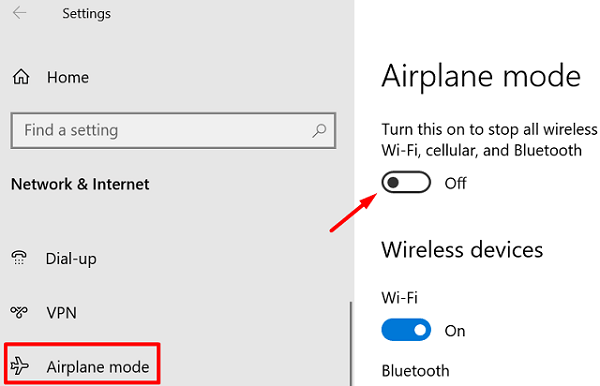 Driver Error BCM20702A0 - Enable Airplane Mode