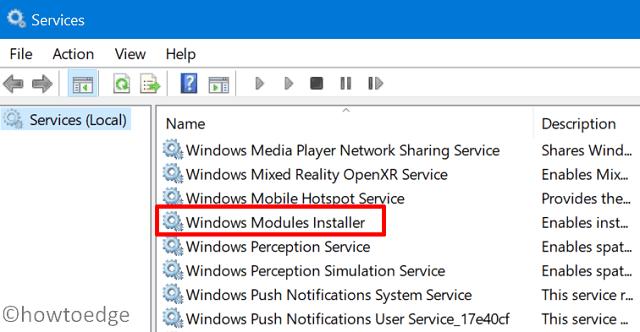 Error Code 0x80070BC9 - Services