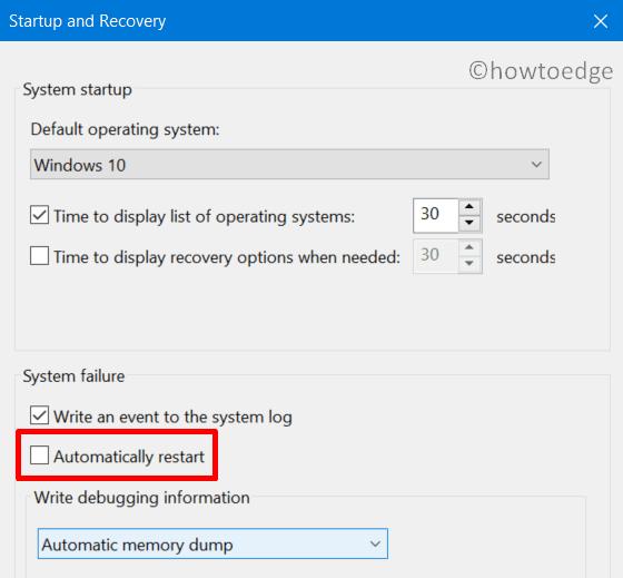 Fix Error 0x000000BD - stop automatic restart