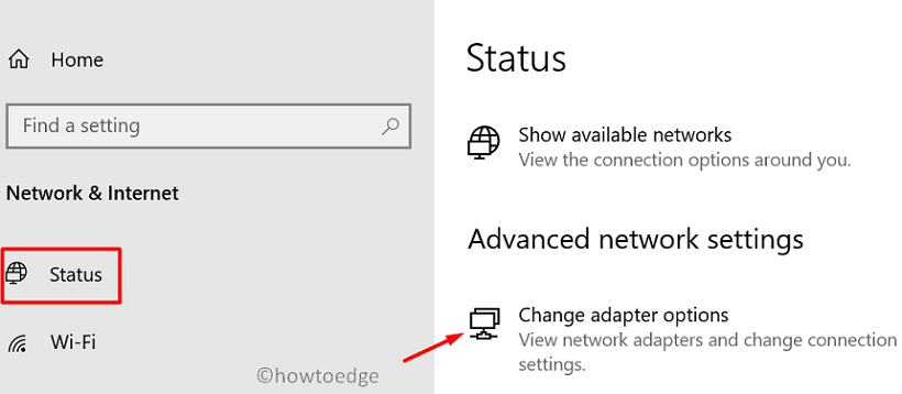 Restricted Sites Windows 10 - Change Adapter Options