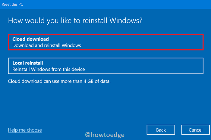 Securely Format Hard Disk in Windows 10 - Cloud Install