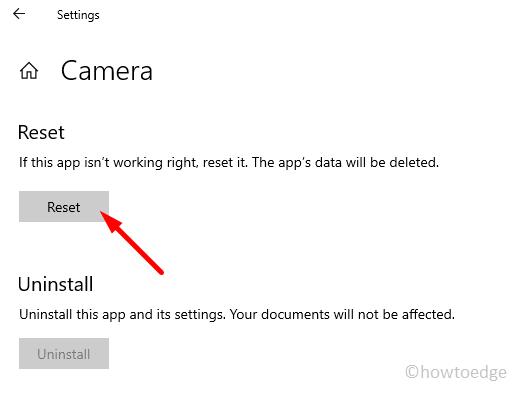 Webcam not working Error 0xA00F4289 - reset camera