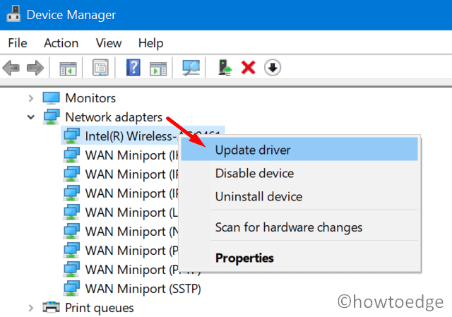 Auto Rotation not working or grayed out - Update Network adapters