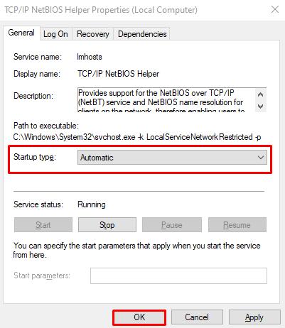 Fix Error code 0x80070035 in Windows 10