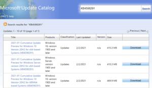 KB4598291 Optional update