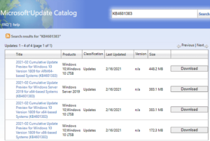 KB4601383 Updates Windows 10 1809 to Build 17763.1790