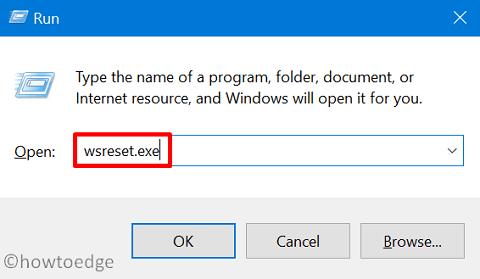 Windows 10 Update Error 0x80072efe - WSRESET