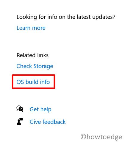 check running Windows 10 Build version - OS Build info