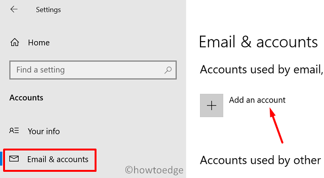 set up a brand new Windows 10 PC - Add an account
