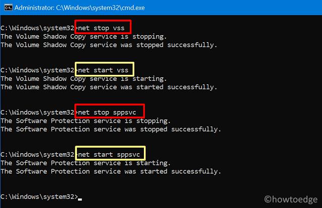 Backup Error 0x807800A1 - CMD