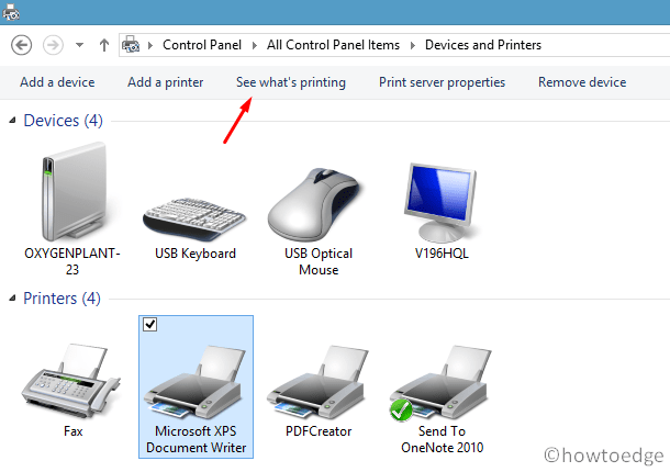 Clear Printer Queue - Using Control Panel