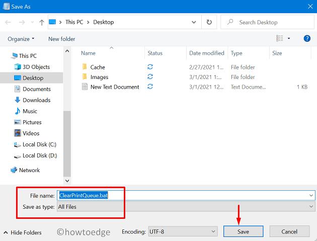 Create a Batch File