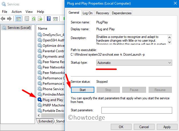 Error 0x8078011E - Start Plug and Play