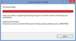 Fix System Image Backup Failed Error 0x807800C5 on Windows 10