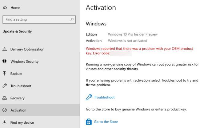 Windows Activation Error Code 0xc004f014