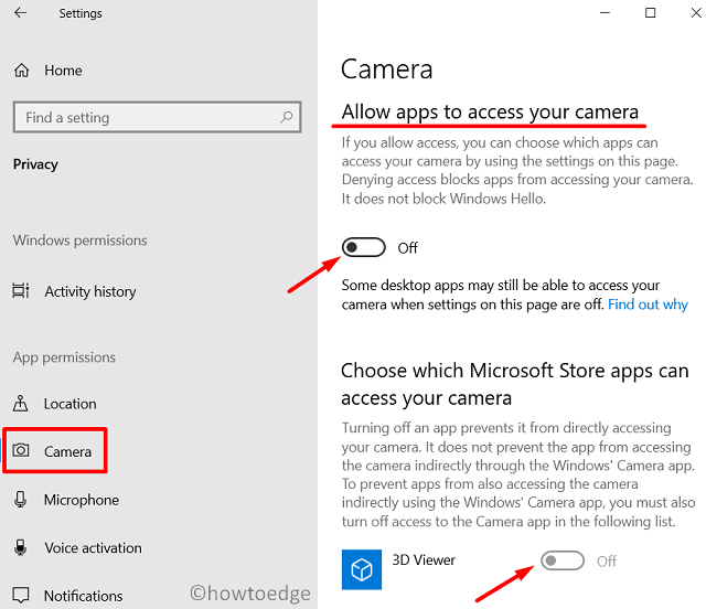 prevent Apps from taking screenshots - modify camera settings