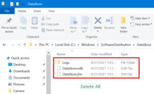 Clear SoftwareDistribution DataStore