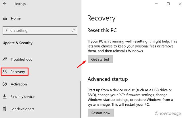 Update Error Code 0x800F0825 - Recovery