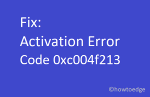 Activation Error 0xc004f213