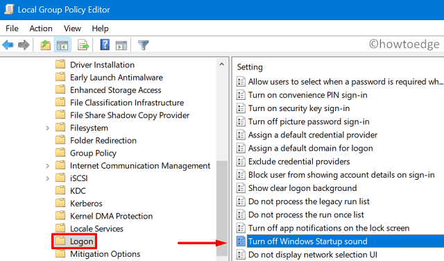 Enable or Disable Windows 10 Startup Sound - Edit Group Policy