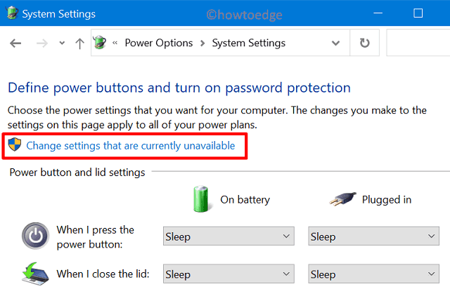 Edit Power Options