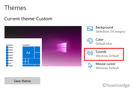 Enable or Disable Windows 10 Startup Sound - Edit Theme